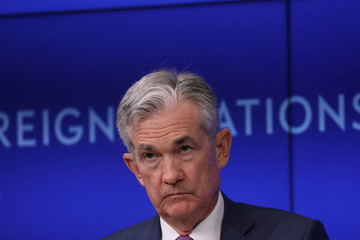 Federal Reserve Chairman Jerome Powell speaks at the Council on Foreign Relations in New York