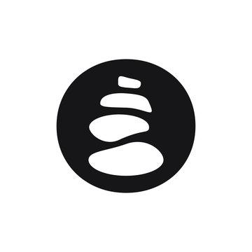 pebble pile icon flat vector