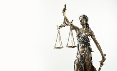 Themis Statue Justice Scales Law Lawyer Concept Wall mural