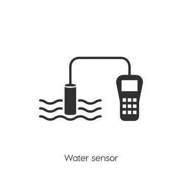 water sensor icon vector