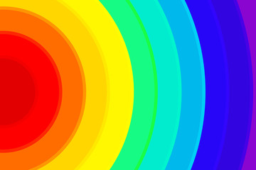 Rainbow Background Colorful Semicircle