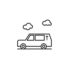 hearse, death, car outline icon. detailed set of death illustrations icons. can be used for web, logo, mobile app, UI, UX