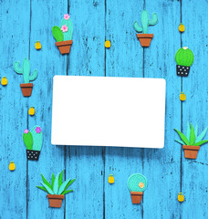Creative exotic background with with blank book