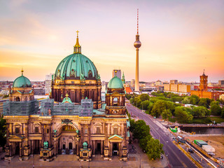 Wall Murals Berlin Berliner dom after sunset, Berlin