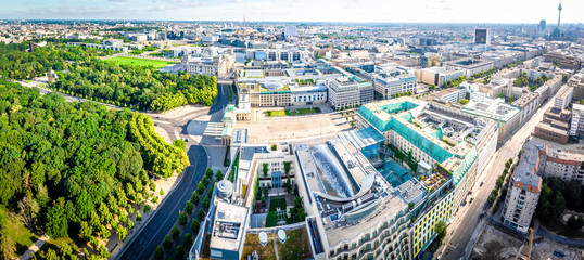 Aerial view of Memorial to the Murdered Jews of Europe