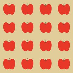 りんごの総柄