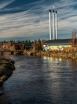 Old Mill Area on Deschutes River, Bend Oregon