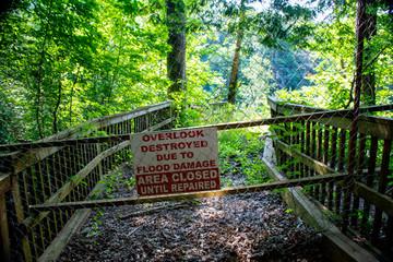 Sign at Burgess Falls Overlook