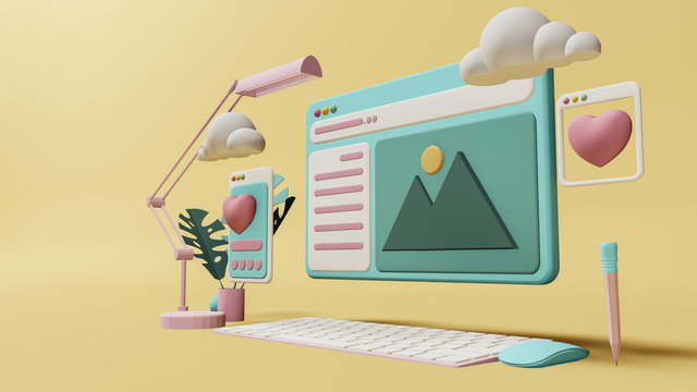 Business concept ,  Interface symbols. Cloud computing