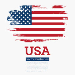 USA Flag with Brush Strokes.