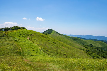 Mountain rdge of shiozuka highlands in shikokuchuo city ,Shikoku,Japan
