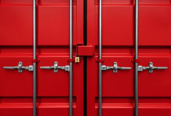 Red Intermodal container