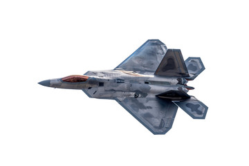 Advanced Tactical Fighter Jet on White Wall mural