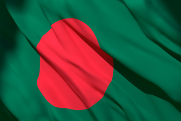 3d rendering of Bangladesh flag