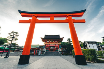 Fushimi Inari Shrine is an important Shinto shrine in southern Kyoto, Japan. It is famous for its thousands of vermilion torii gates, which straddle a network of trails behind its main buildings