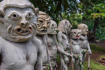 Asaro mud men, Goroka, Papua New Guinea