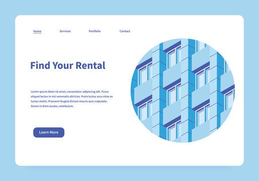 Rental Service Landing Page