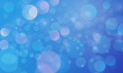Abstract bokeh lights effect with blue sky background, bokeh texture, bokeh background, vector illustration for graphic design Wall mural