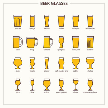 Beer glasses (outline colored iconset)