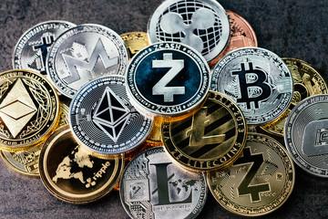 money symbols cryptocurrencies