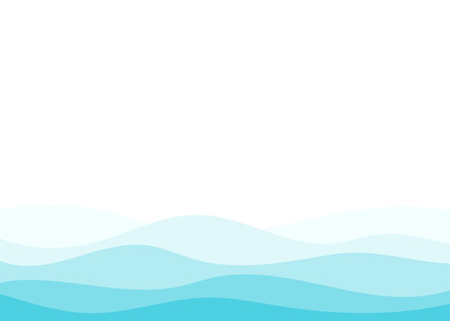 Blue water wave ocean sea vector abstract background