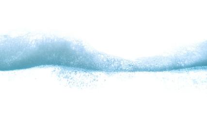 Obraz Wave soap foam with water bubble on white background. - fototapety do salonu