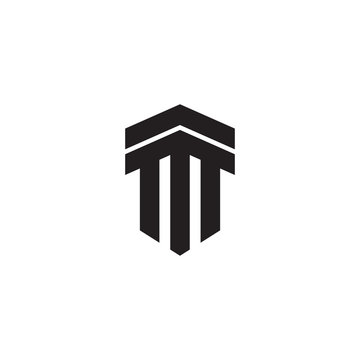 Pillar column logo icon design vector template