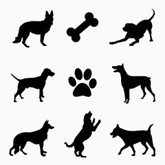 Dog icon design concept.