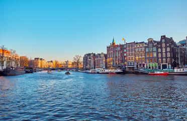 Foto op Plexiglas Scandinavië View of the canals in Amsterdam. Netherlands..