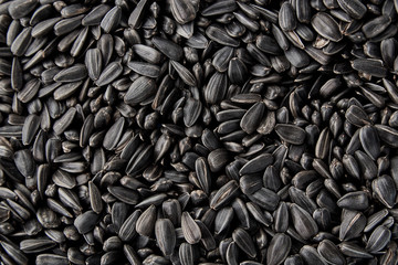 Black sunflower seeds. Black sunflower seeds for texture or background. Black sunflower seeds macro close up Fototapete
