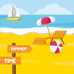 Wall Mural - summer time holiday
