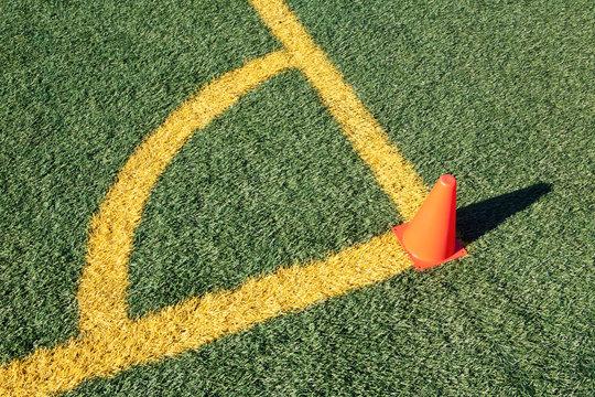 Corner Boundary Lines on Soccer Field