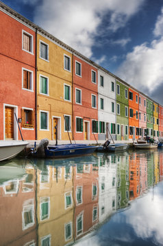 Colorful Houses and Boats