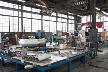 Equipment in machine shop