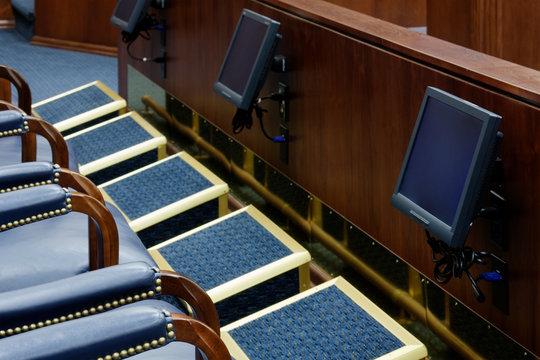 Viewing Screens in Jury Box