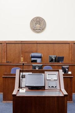 Attorney Podium Facing Judges Seat
