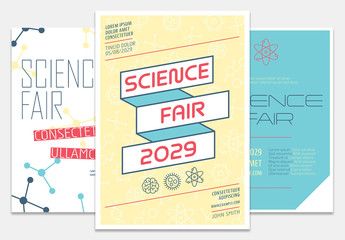 School Science Fair Flyer Set