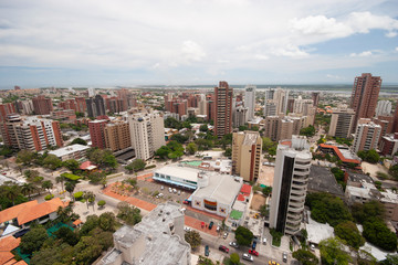Foto op Canvas Afrika Barranquilla, Atlantico, Colombia. May 18, 2006: Panoramic of the city