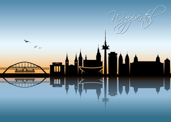 Fototapete - Wuppertal skyline - Germany - vector illustration