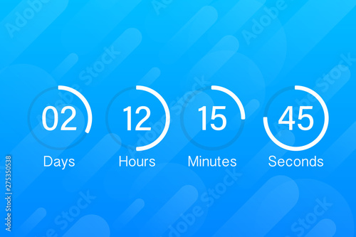 countdown clock counter timer  UI app digital count down