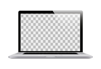 Laptop in a realistic style