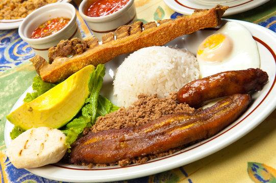 Bandeja Paisa, Traditional Colombian Food