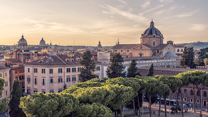 Leinwandbilder - The city of Rome in the afternoon