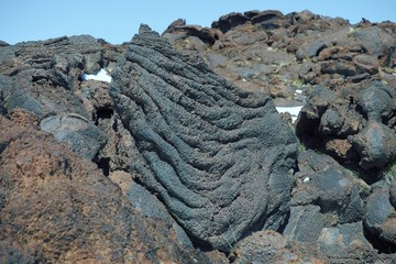 Cooled Lava Flow Ropy Surface