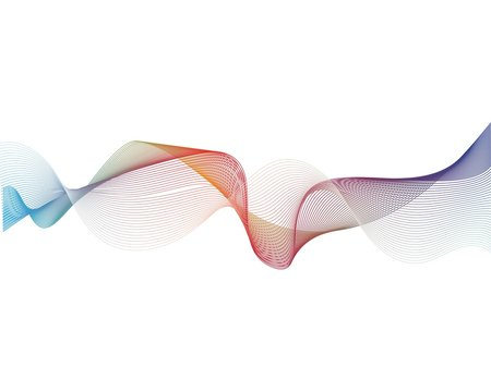 Sound wave vector icon illustration template