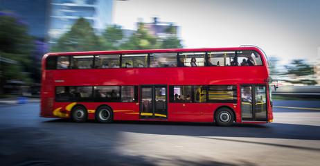 Foto op Aluminium Londen rode bus Double Decker bus line - Metrobus CDMX