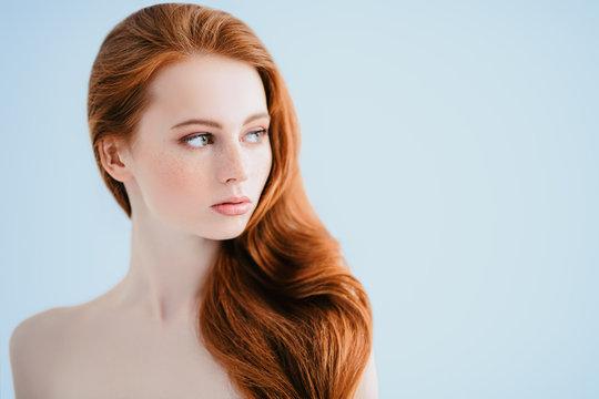 loose red hair