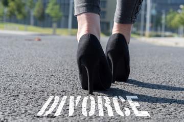Eine Frau und die Scheidung