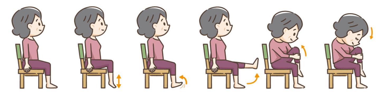 高齢者の椅子を使用した運動