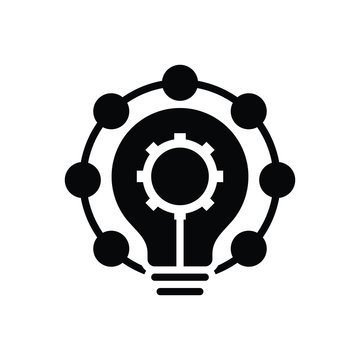 Black solid icon for innovation